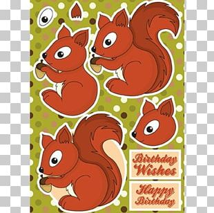 Chipmunk Paper Model Cardmaking Craft PNG