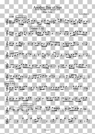 Sheet Music Flute Another Day Of Sun PNG