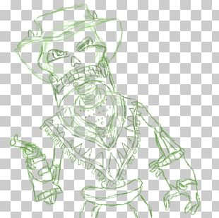 The Gunstringer Drawing Character Line Art Sketch PNG