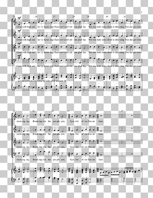 Sheet Music Line Hallelujah Point Angle PNG