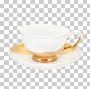 Coffee Cup Saucer Bone China Teacup Tableware PNG
