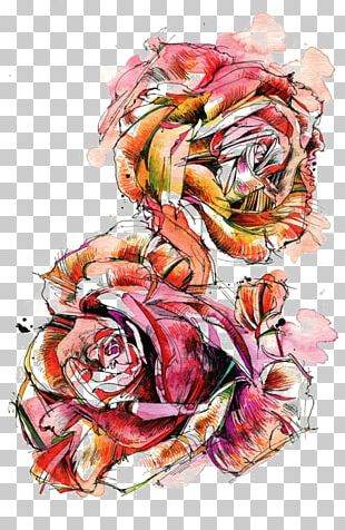 Rose Watercolor Painting Drawing PNG