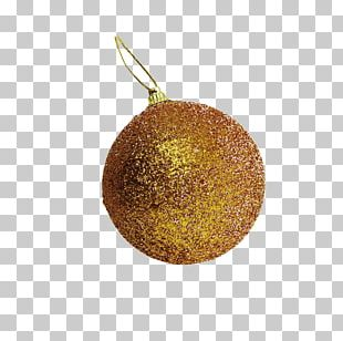 Christmas Decoration Gold Gift PNG