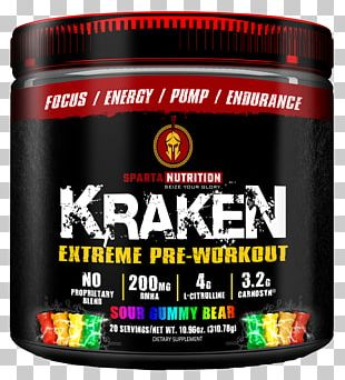 Dietary Supplement Sparta Nutrition Kraken Extreme Pre-Workout Powder 40 Servings Candy Sparta Nutrition Kraken Extreme Pre-Workout Powder 40 Servings Candy Bodybuilding Supplement PNG