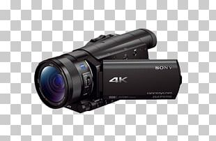 Camcorder Sony Handycam FDR-AX100 Video Cameras 4K Resolution PNG
