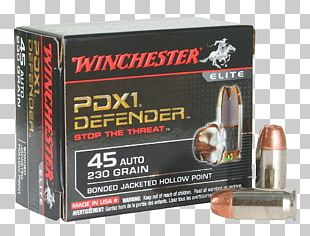 Hollow-point Bullet .45 ACP Winchester Repeating Arms Company Full Metal Jacket Bullet PNG