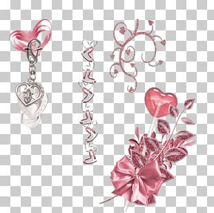 Petal Body Jewellery Cut Flowers Pink M PNG