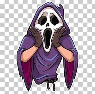 Telegram Sticker Scream Halloween Film PNG