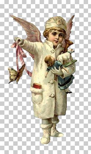 Angel Christmas Decoupage PNG
