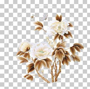 Art Painting Floral Design PNG