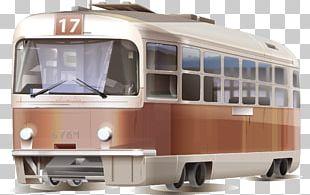 Bus Train Tram Car Public Transport PNG