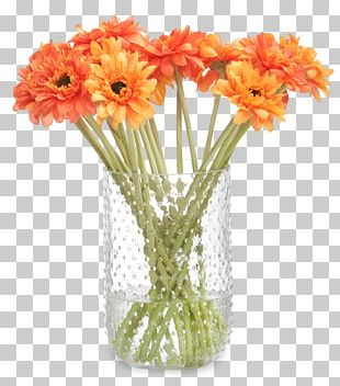 Vase Floral Design Cut Flowers Transvaal Daisy Flower Bouquet PNG