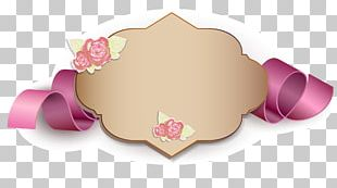 Gift Card Ribbon Valentines Day Illustration PNG