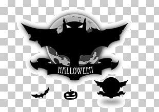 Halloween Bat Jack-o'-lantern PNG