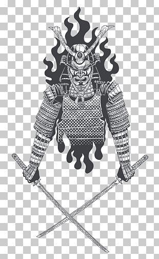Samurai Katana Sword Japanese Armour Illustration PNG