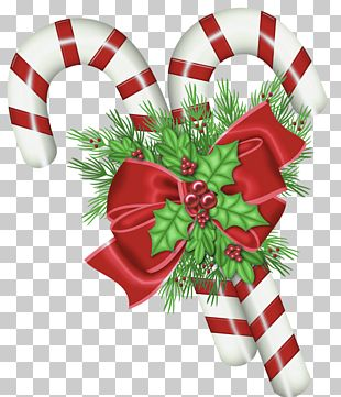 Candy Cane Christmas Decoration PNG