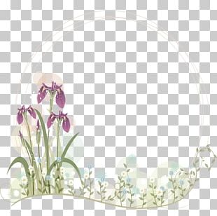 Purple Flower Arranging Hair Accessory PNG
