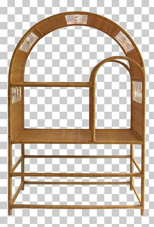 Chair Table Shelf Bookcase Rattan PNG