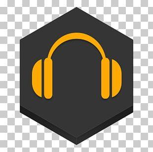 Audio Symbol Headphones Brand Yellow PNG