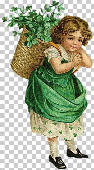 Ellen Clapsaddle Saint Patrick's Day Ireland Shamrock PNG