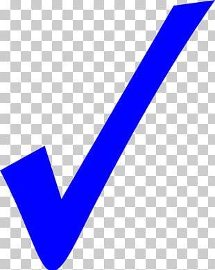 Check Mark Symbol Blue PNG