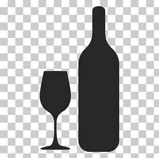Red Wine Bottle Wine Glass Stemware PNG