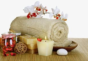 Orchid Towel Soap Candles PNG