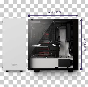 Computer Cases & Housings Power Supply Unit NZXT Phantom 240 Mid Tower Case ATX PNG