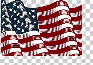 Hand-painted American Flag PNG