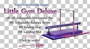 Gymnastics Balance Beam Nimble Sports Mat Sporting Goods PNG