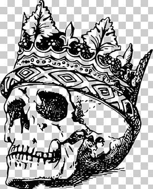 Human Skull Symbolism Crown PNG