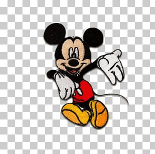 Mickey Mouse Minnie Mouse Embroidery Embroidered Patch PNG