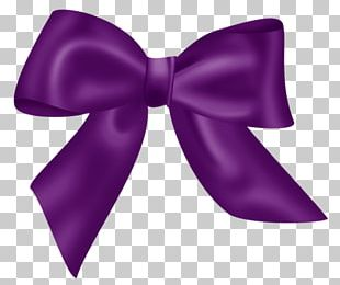 Purple Bow Tie Shoelace Knot Ribbon PNG
