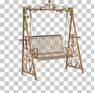 Rocking Chair Swing Wrought Iron Garden Furniture PNG