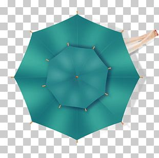 Umbrella Symmetry Green Pattern PNG
