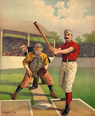 Baseball Vintage Base Ball Poster Batting PNG
