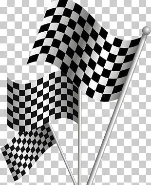 Formula One Racing Flags Auto Racing Drapeau Xe0 Damier PNG