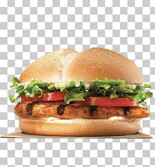 Burger King Grilled Chicken Sandwiches Whopper Hamburger TenderCrisp PNG