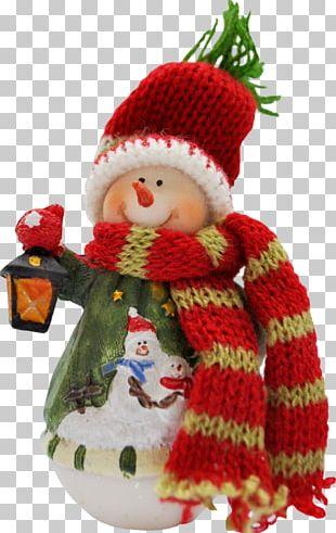 Snowman Mrs. Claus Christmas Ornament PNG
