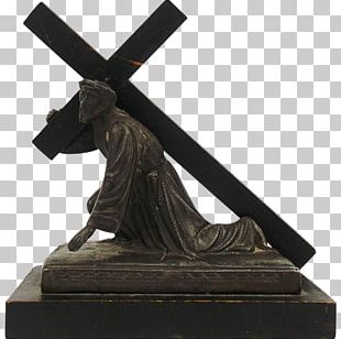 Crucifix Religion Christian Cross Christianity Bronze Sculpture PNG