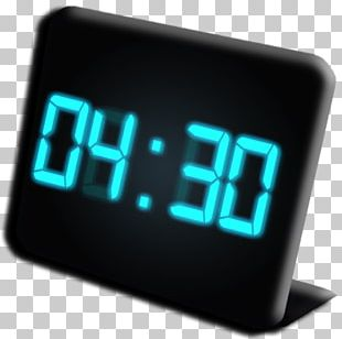 Digital Clock Alarm Clocks MacOS App Store PNG