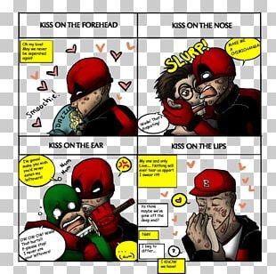 Deadpool Spider-Man Comics Character Kiss PNG