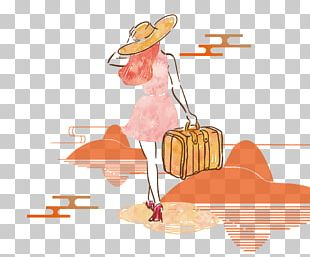 Suitcase Euclidean Travel Woman Baggage PNG