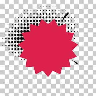 Cartoon Red Explosion Icon PNG