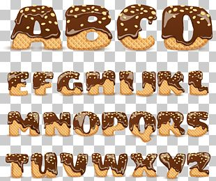 Doughnut Ginger Snap Chocolate Chip Cookie Font PNG