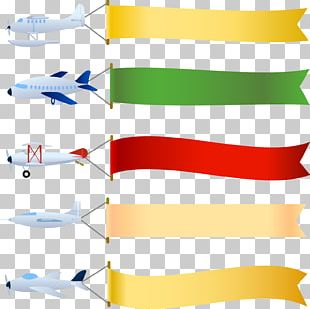 Airplane Aircraft Banner PNG