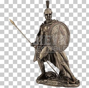Leonidas Sparta Statue Battle Of Thermopylae Bronze Sculpture PNG