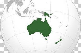 Australia Globe World Map PNG