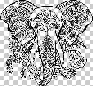 Mandala Coloring Book Elephantidae AutoCAD DXF PNG