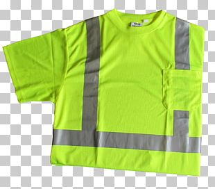 T-shirt High-visibility Clothing Sleeve Outerwear PNG